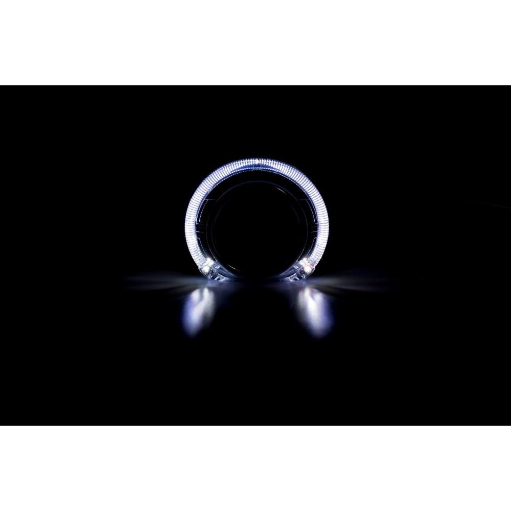 """Декоративная бленда Optima GD103 3.0"""" полукруглая со сверхъяркими ангельскими глазками CREE + режим притухания"""