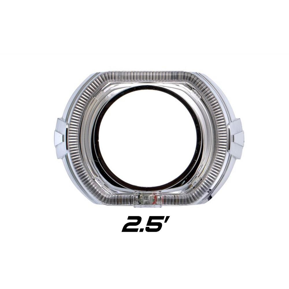 """Декоративная бленда Optima GD136-F2 2.5"""" F-style для линзы 2.5 дюйма со сверхъяркими ангельскими глазками CREE + режим притухания"""