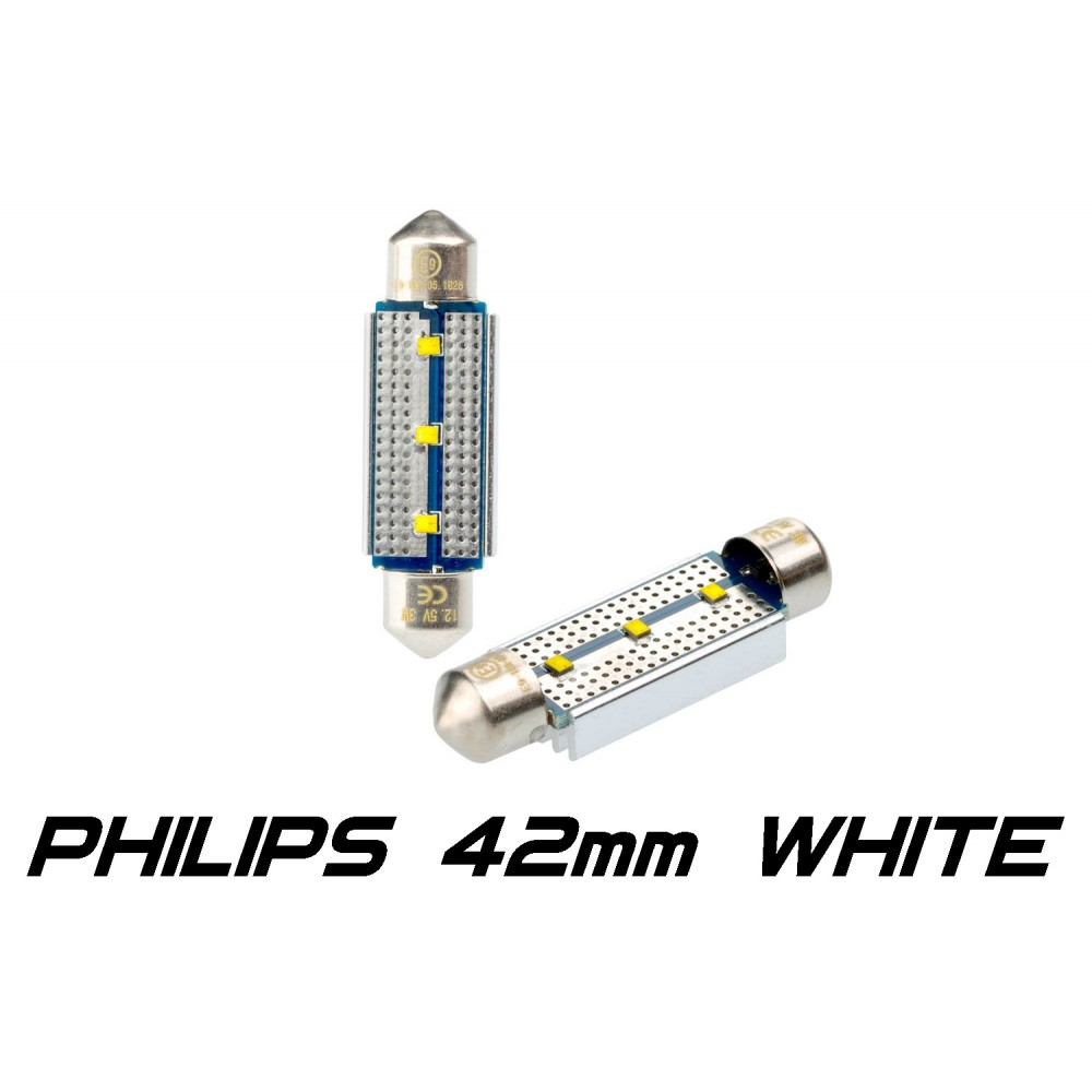 Optima Premium PHILIPS CAN Festoon 42 mm белая с обманкой