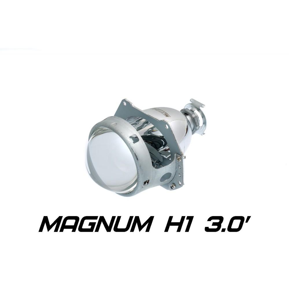 """Биксеноновая линза Optima Magnum 3.0"""" Н1, модуль под лампу Н1 3.0 дюйма без бленды"""