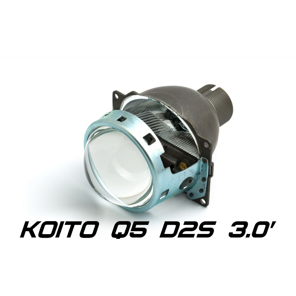 "Биксеноновая линза Koito Q5 3.0"" D2S, круглый модуль под лампу D2S 3.0 дюйма без бленды"