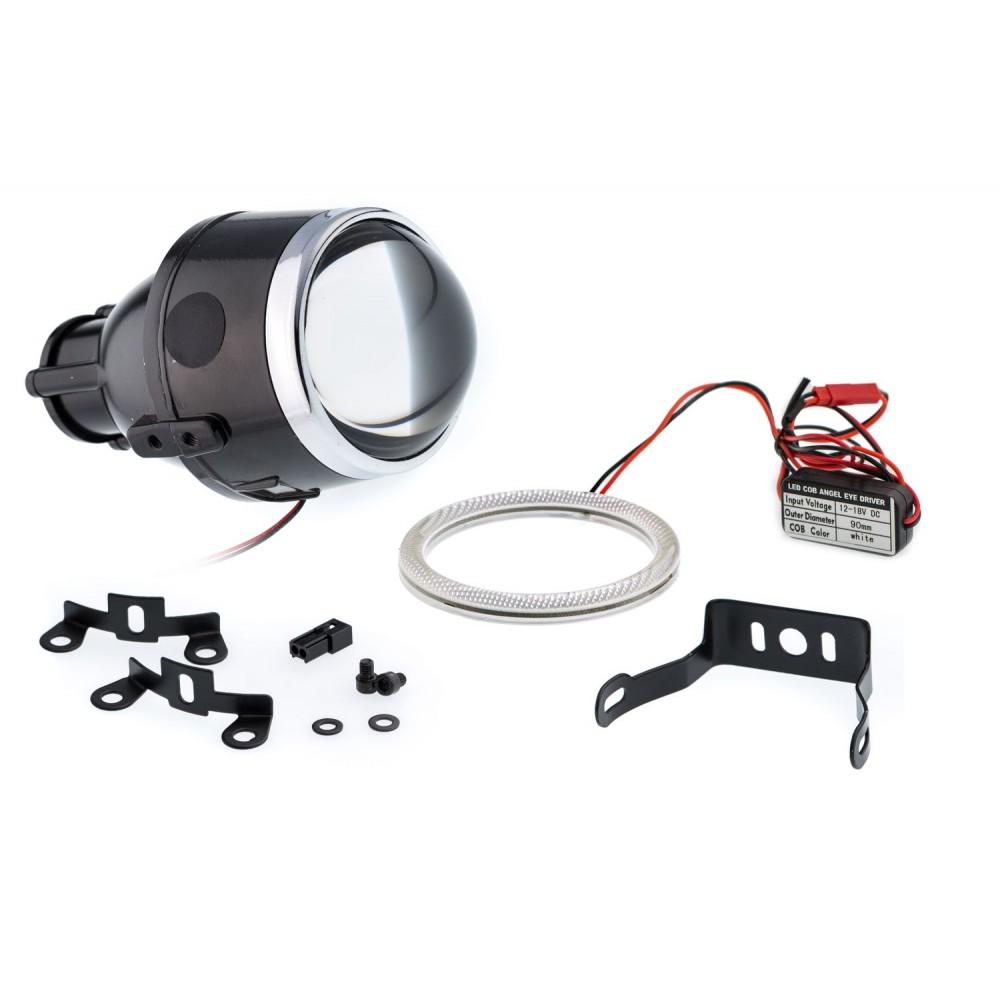 Универсальный би-модуль Optimа Waterproof Lens 2.5' H11, модуль для противотуманных фар под лампу H11 2.5 дюйма
