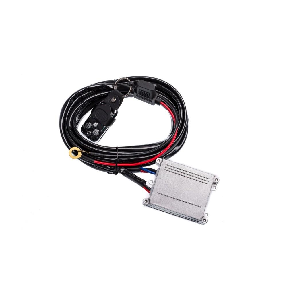 Проводка для фар Optima Nanoled с реле и выключателем 12-24V 30A 3,0 метра (на одну фару)