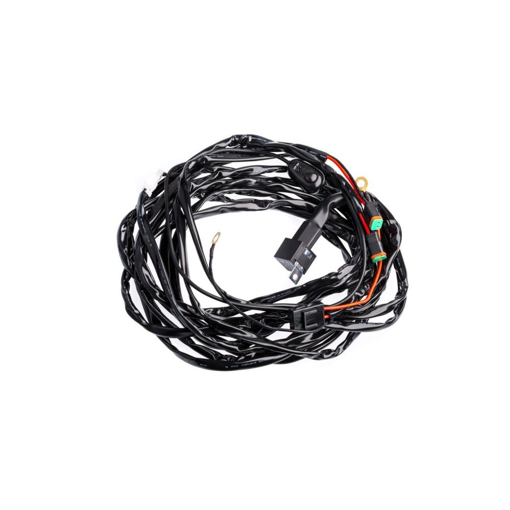 Проводка для фар Optima Nanoled с реле и выключателем 12V 30A 3,0 метра (на одну фару)