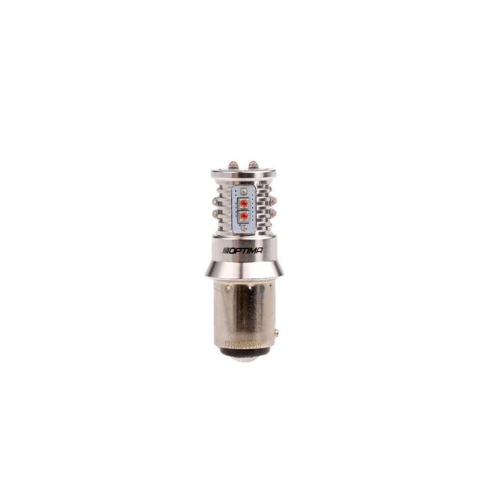 Optima Premium MINI P21/4W красная с обманкой